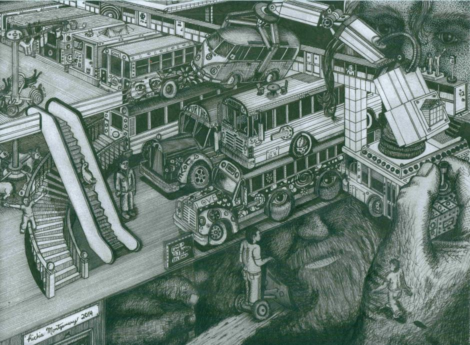 """Hippie Bus Apartments"" © Richard Montgomery"